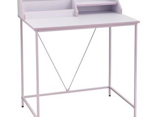 Quincy Desk White Pink   Buylateral