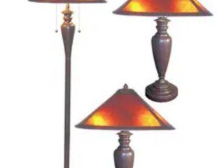 Set of Three Americana Mica lamps  Retail 158 49