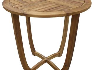 Coronado Outdoor Round Acacia Wood Accent Table by Christopher Knight Home  Retail 109 99