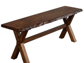 Simple living Mandeville live Edge Solid Wood Bench Retail 146 99