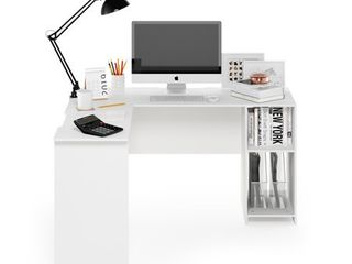 Furinno Indo l Shaped Desk with Bookshelves  Retail 173 99