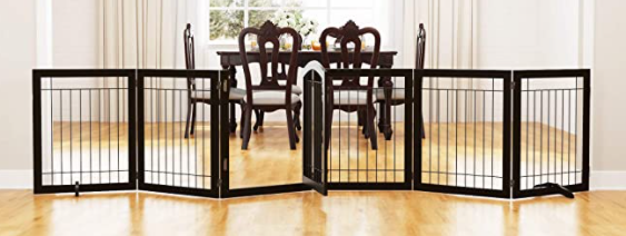 Pawland 30in Tall Extra Wide Dog Gate  White