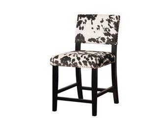 linon lemont Black Cow Print Counter Stool  Retail 115 49
