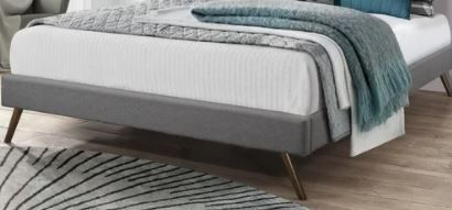 Twin Size Carson Carrington Harg Upholstered Platform Bed  Retail 179 49