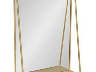 lintz Metal Framed Mirror with Shelf