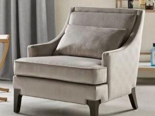 Martha Stewart Anna light Grey Arm Accent Chair  Retail 429 99