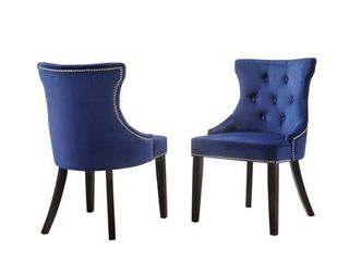 Monaco Tufted Back Upholstered Nail Head Chair  Retail 319 49