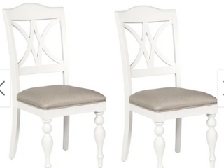 Summer Cottage White Splat Back Dining Chair  Set of 2  Retail 247 99