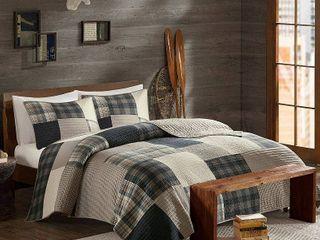 Woolrich Winter Hills Tan Oversized Cotton Quilt Set Retail 80 81