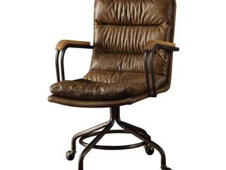 ACME Harith Executive Office Chair  Vintage Whiskey Top Grain leather Retail 431 00
