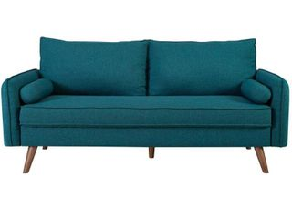 Revive Upholstered Fabric Sofa Teal   Modway