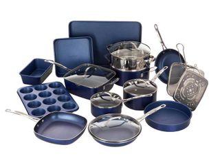 Granite Stone Diamond Titanium Diamond Infused Nonstick 20 Pc  Complete Cookware   Bakeware Set