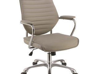 Modern Design Adjustable Swivel Taupe with Chrome Base Office Chair Retail 231 99
