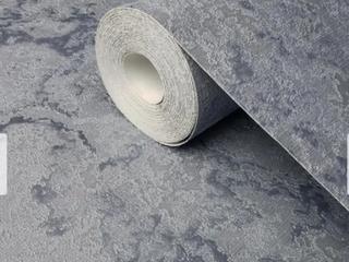 Wallpaper Silver Blue metallic textured modern plain faux plaster textures rolls  Retail 82 49 2 ROllS