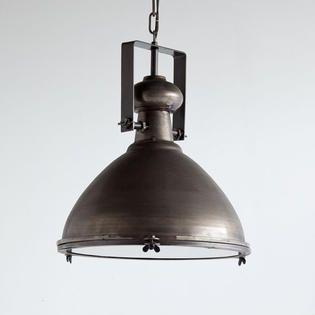 Mercana Bashaw I 17x20 Brown Toned Metal Dome Pendant light  Retail 239 99