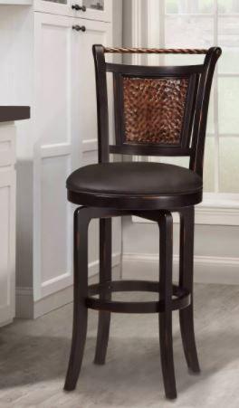 Norwood Swivel 26 5  Counter Height Barstool Wood Black   Hillsdale Furniture