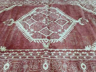 Rust and Cream large Area Rug  needs cleaned in one spot