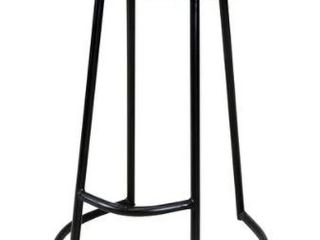 Carbon loft Jannes Sculpted Solid Wood Seat Counter Stool with Wrought Iron Base with Foot Rest Retail 95 99