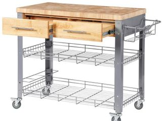 Chris   Chris Stadium Kitchen 1 5 inch thick Work Station with drawers  Retail 437 99