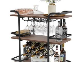 3 Tier Wine rack cart wine cart bar cart With black wheels  Retail 234 49