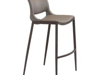 Ace Bar Chair  Set of 2  Gray   Walnut  Retail 388 99