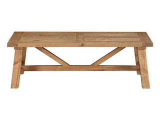 Harby Reclaimed Wood Rectangular Coffee Table in Rustic Tawny Retail 306 99