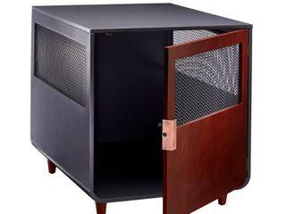 Staart   Radius Wooden Dog Crate   Mocha Walnut   large Retail 224 49