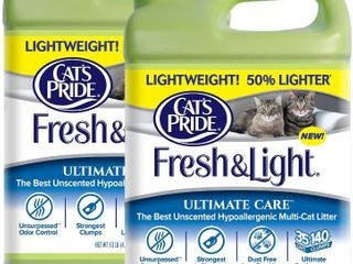 Cat s Pride Fresh and light Ultimate Care lightweight Unscented Hypoallergenic Multi Cat litter  10 Pound Jug  2 Pack  RETAIl  26 00