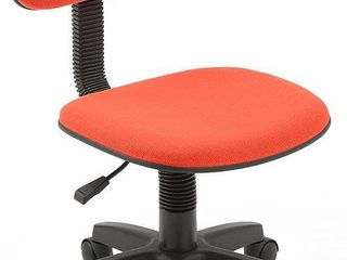 Hodedah Armless  low Back  Adjustable Height  Swiveling Task Chair with Padded Back and Seat in Red  RETAIl  35 99