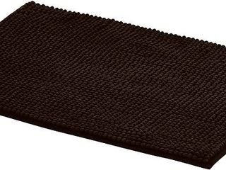 AmazonBasics Chenille Bath Mat   Small  Brown  RETAIl  12 19