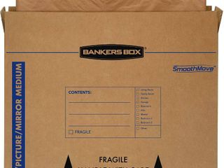 Bankers Box SmoothMove TV Picture Mirror Moving Box  Medium  37 x 4 x 27 Inches  4 Pack  RETAIl  37 36