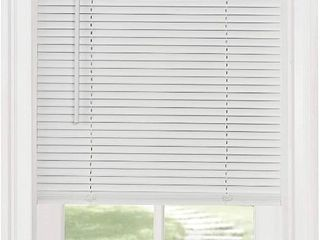 Achim Home Furnishings Cordless Morningstar 1  light Filtering Mini Blind  Width 35inch  Pearl White  RETAIl  22 43