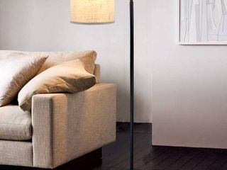 DllT lED Floor lamp Modern Tall Floor lamp Farmhouse Industrial light 8W Classic Arc with Hanging Floor lamp Drum Shade  RETAIl  52 99