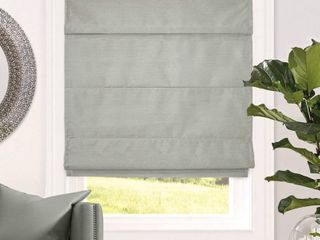 CHICOlOGY Cordless Roman Shades lining Modern Fabric Cascade Window Blind Treatment  48  W X 64  H  lux Stone  Room Darkening   RETAIl  99 99