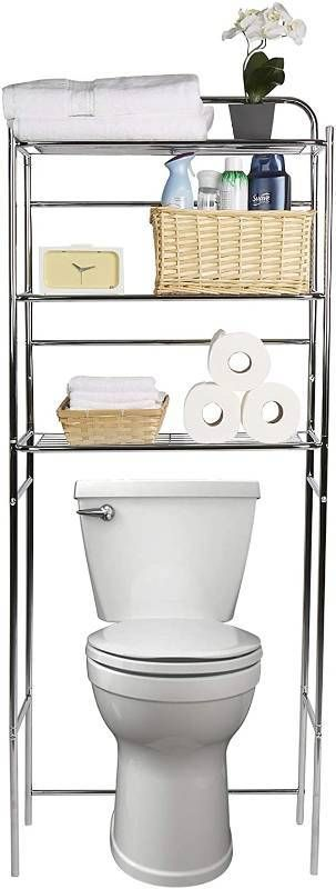 Mind Reader 3 Tier Organizer  Bathroom Space Saver  Over The Toilet Rack  Silver  RETAIl  39 99