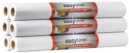 Duck Smooth Top Easyliner  20 inch x 6 Feet  x 6 Rolls  White  RETAIl  39 46