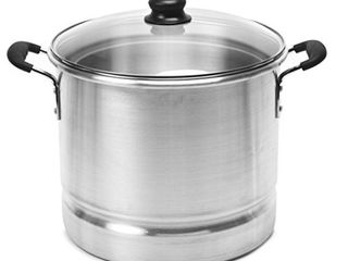 IMUSA MEXICANA 420 Tamale and Seafood Steamer with Glass lid 20 Quart  Silver  RETAIl  37 44