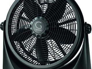 Genesis Adjustable 360 Degree Table Floor Fan  16  Black  RETAIl  39 99