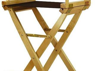 Casual Home Director s Chair  Natural Frame Black Canvas  30    Bar Height  RETAIl  154 99