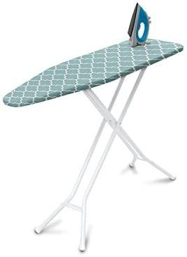 Homz 4 leg Steel Top Ironing Board  Blue lattice Cover  RETAIl  34 99