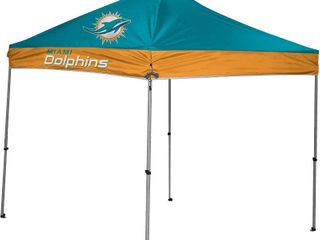 NFl Instant Pop Up Canopy Tent with Carrying Case  9x9  Miami Dolphins  RETAIl  150 00