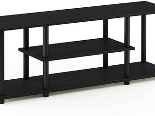 Furinno 3 Tier Entertainment Center   TV Stand   TV Unit   TV Desk  Walnut Black  RETAIl  47 69
