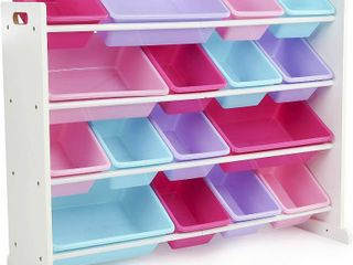Humble Crew  White Blue Pink Purple Extra large Toy Organizer  16 Storage Bins  RETAIl  64 99
