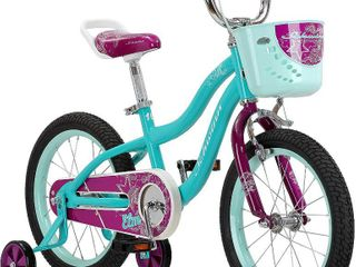 Schwinn Elm Girls Bike for Toddlers and Kids   Balance or Training Wheels  Adjustable Seat  16  Wheels  Teal  RETAIl  149 99