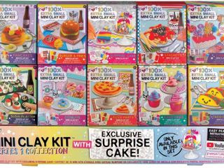 Fashion Angels 100  Extra Small Mini Clay Kit Super Set  Air Dry Clay  Tiny Food Clay Kit  RETAIl  39 99