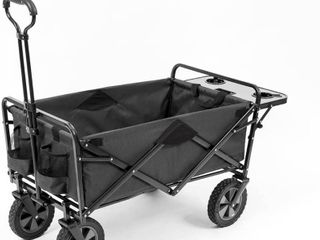 Mac Sports Collapsible Outdoor Utility Wagon with Folding Table and Drink Holders  Gray  RETAIl  99 99
