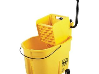 Rubbermaid Commercial Wavebrake Mopping System Bucket and Side Press Wringer Combo  35 quart  Yellow  RETAIl  138 72