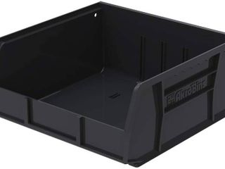 SET OF 4 Akro Mils AkroBins Plastic Storage Bin Hanging Stacking Containers   11 Inch x 11 Inch x 5 Inch  Black  RETAIl  31 48