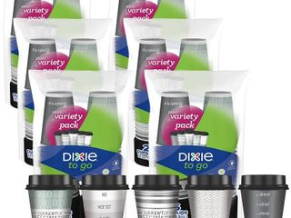 Dixie to Go Disposable Hot Beverage Paper Coffee Cups with lids  12 Oz  156 Count  RETAIl  29 94