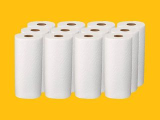 AmazonCommercial Adapt a Size Kitchen Paper Towels  140 Towels per Roll  12 Rolls  RETAIl  27 00